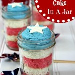 Easy Patriotic Cake In A Jar
