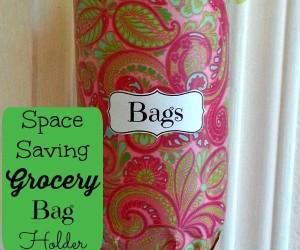 Space Saving Grocery Bag Holder