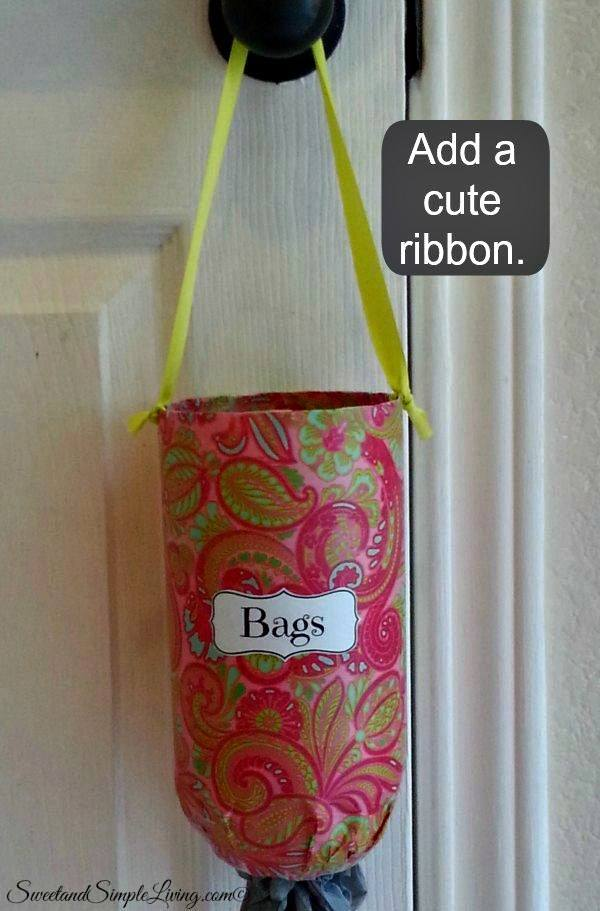 space saving grocery bag holder