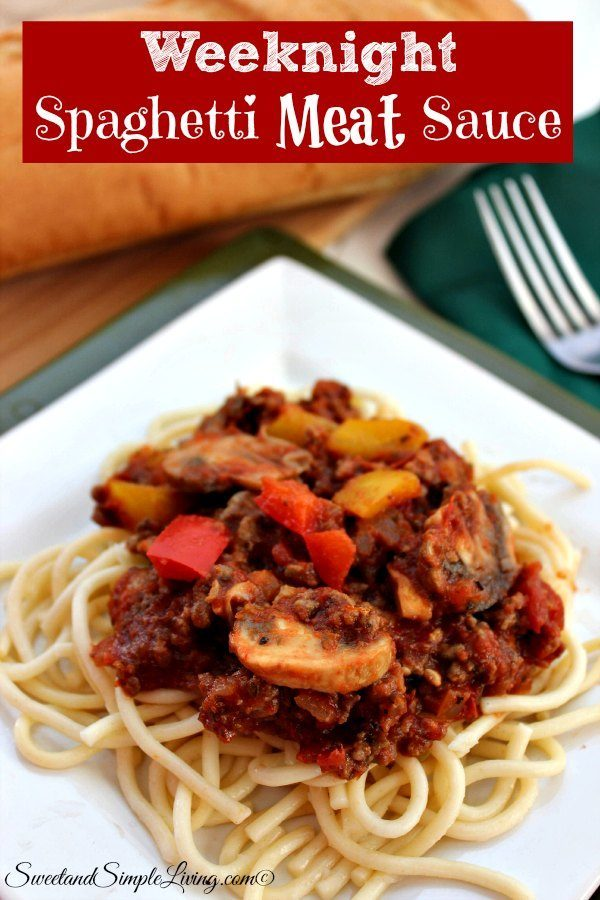 weeknight spaghetti meat sauce