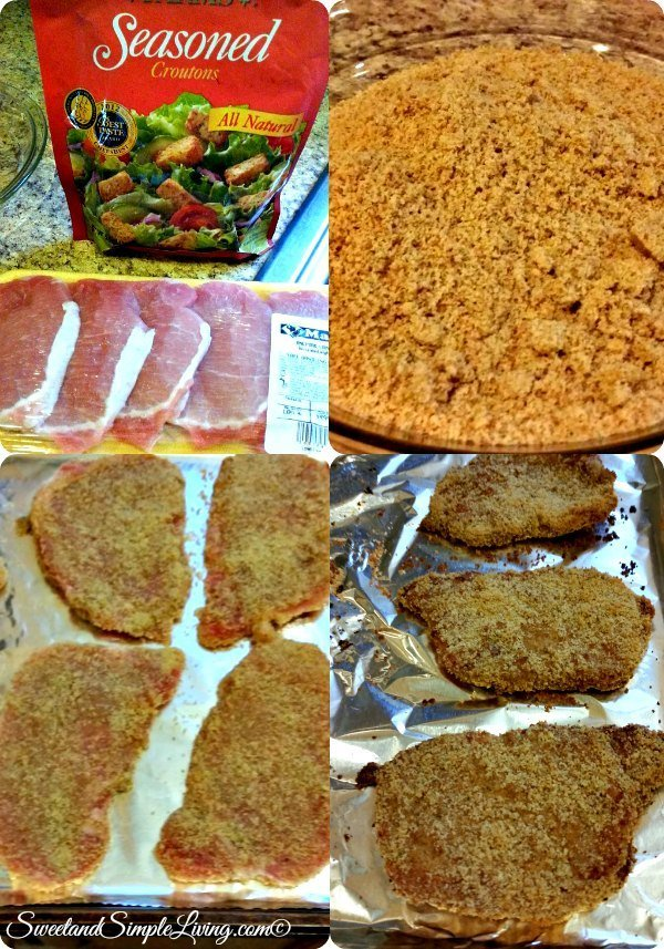 crouton seasoned pork chops