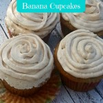 Honey and Cinnamon Frosted Banana Cupcakes