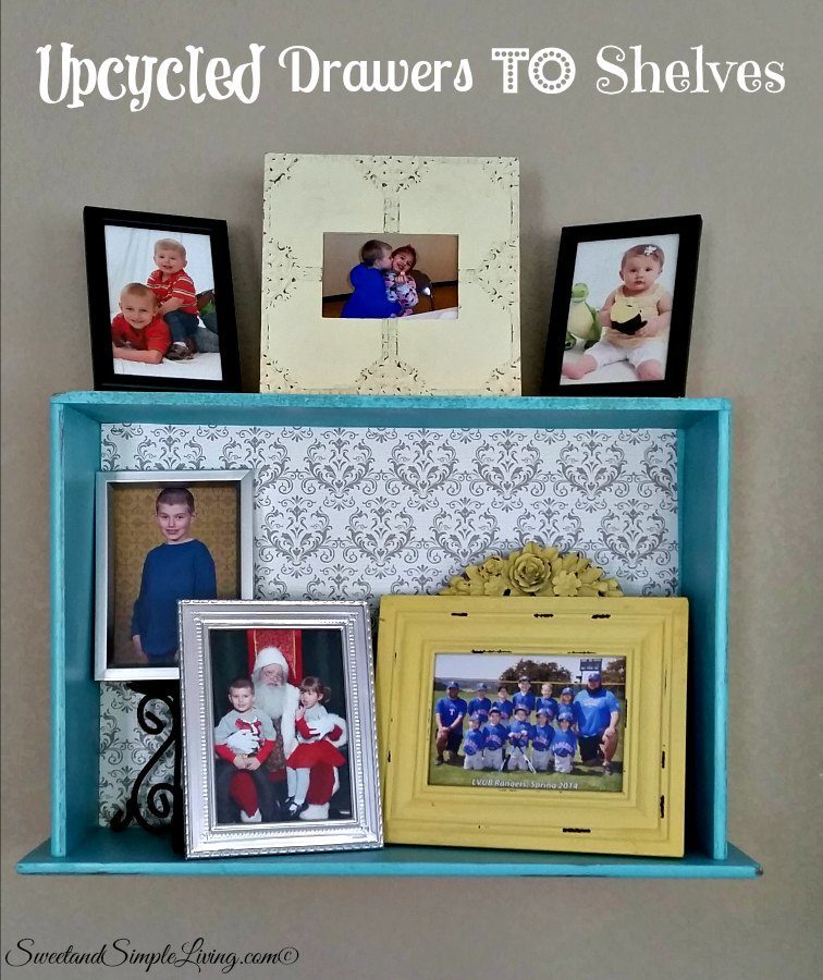 Upcycled Drawers To Shelves Easy Diy Project