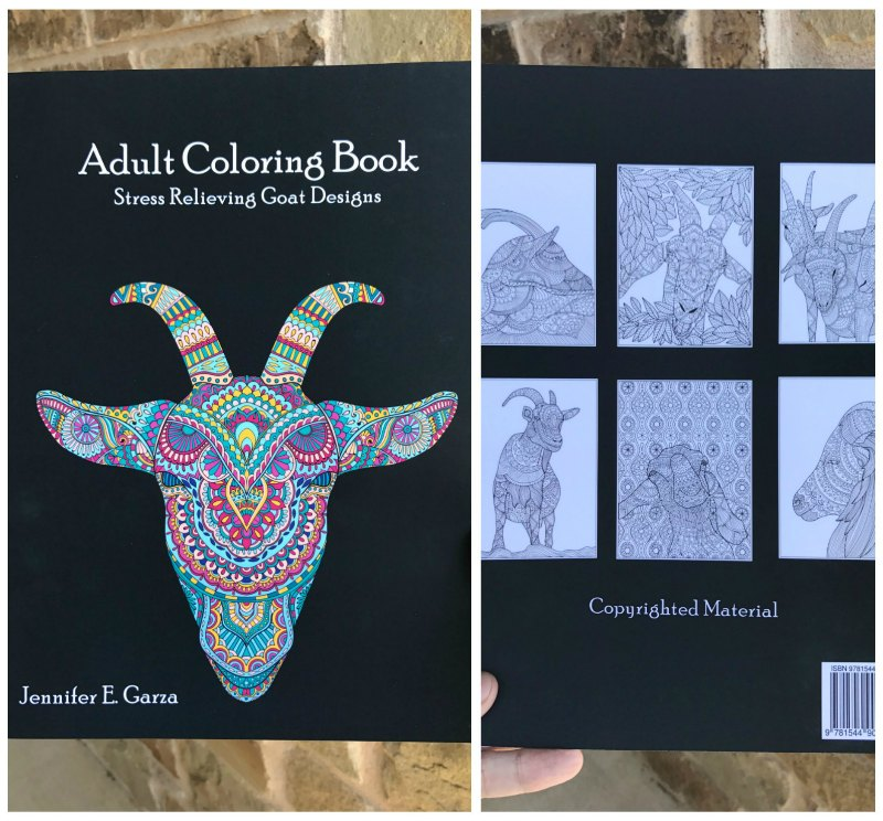 Goats Adult Coloring Book